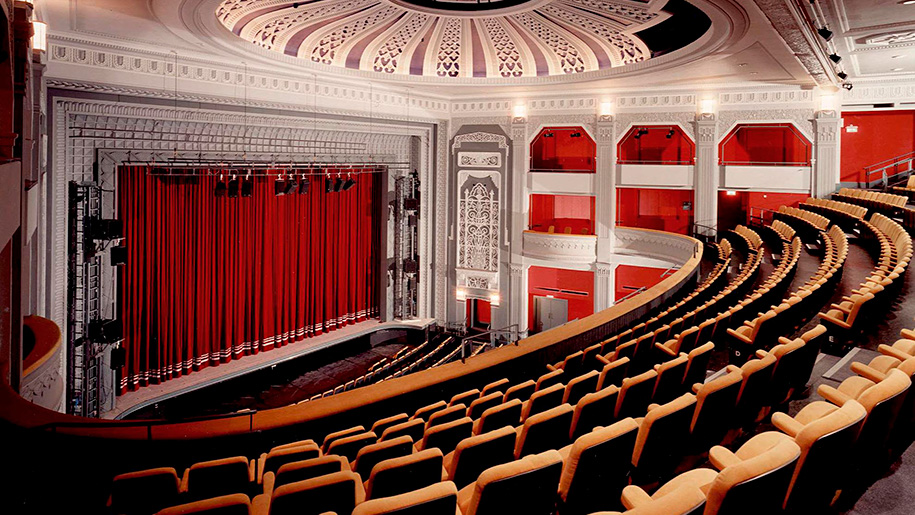 seating facing proscenium arch
