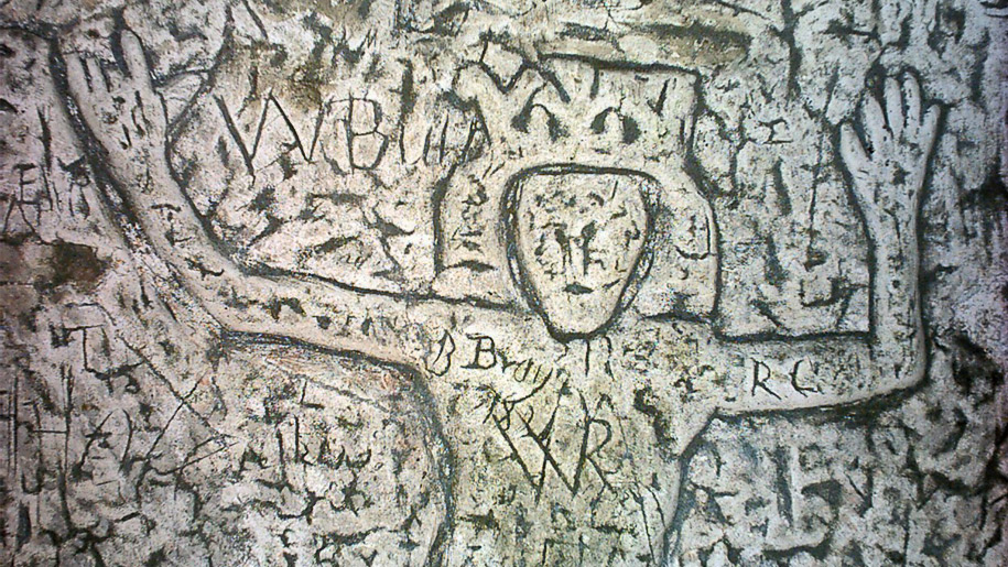 carving on cave walls