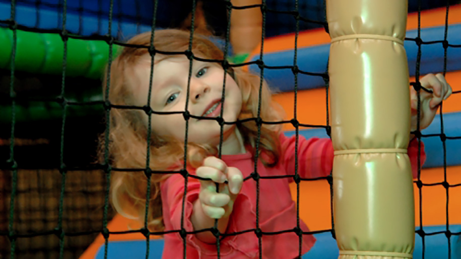 girl in soft play