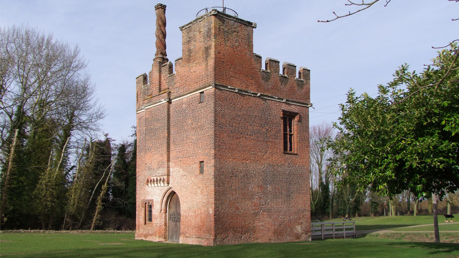 rear view of gatehouse