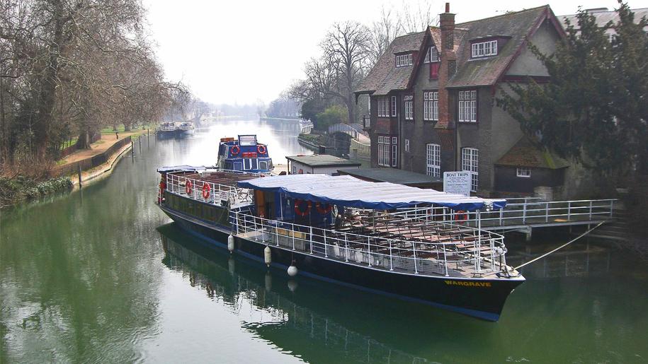 steamer on river