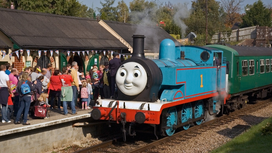Thomas the tank engine at the station