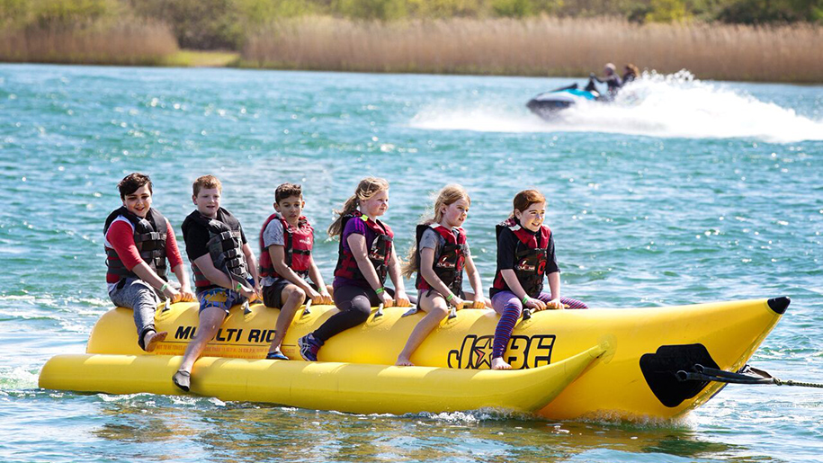 Stubbers smash camps kids on banana boat