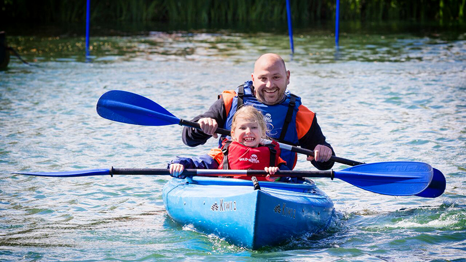 Stubbers smash camps man and child in kayak
