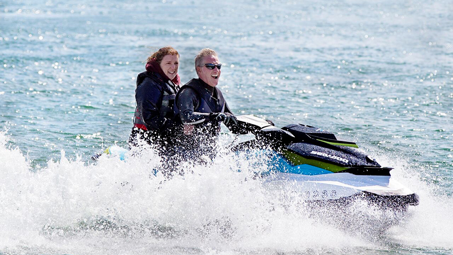 Stubbers smash camps people on jet ski