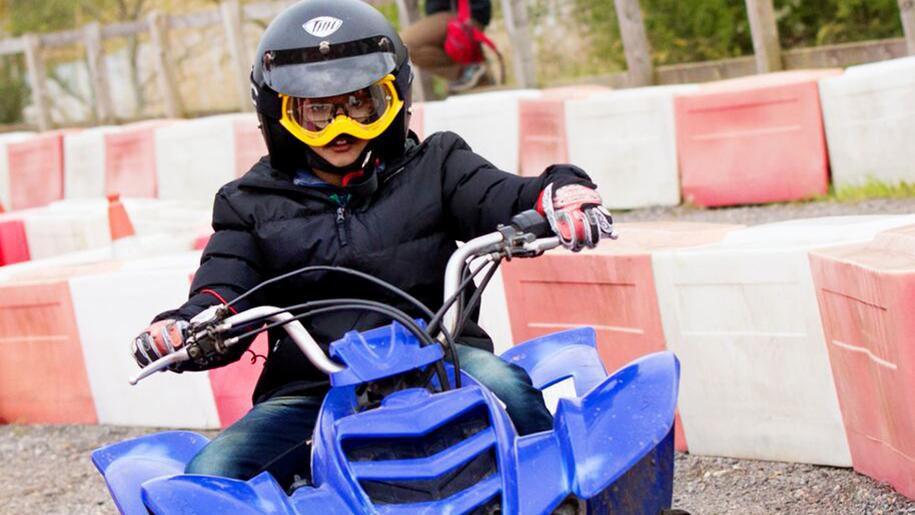 Stubbers smash camps child on quad bike