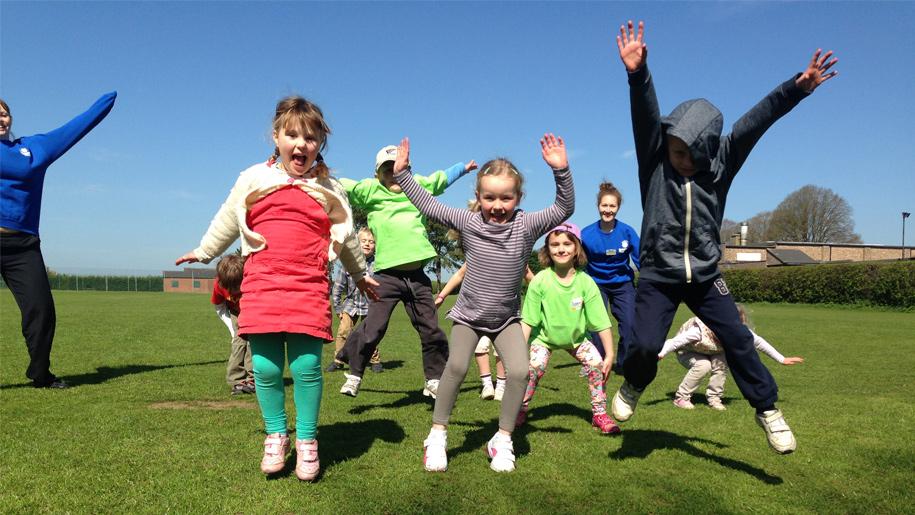 Super Camps Sevenoaks kids jumping