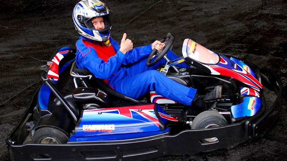 thumbs up in go kart