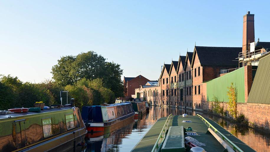narrow boat on canal