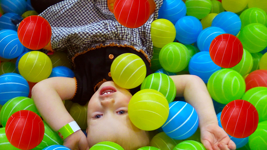 girl in ball pool