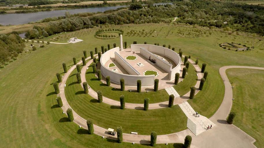 aerial view of memorial