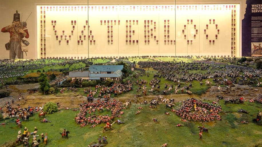 waterloo miniature battle field