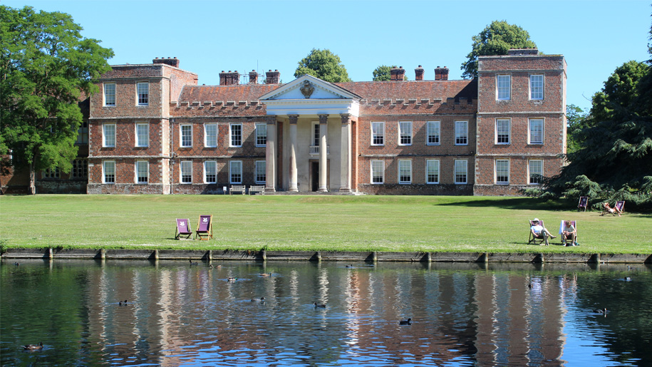 rear view of the vyne by lake