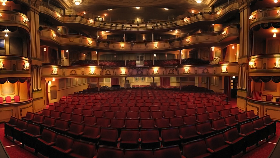 seating inside theatre from stage