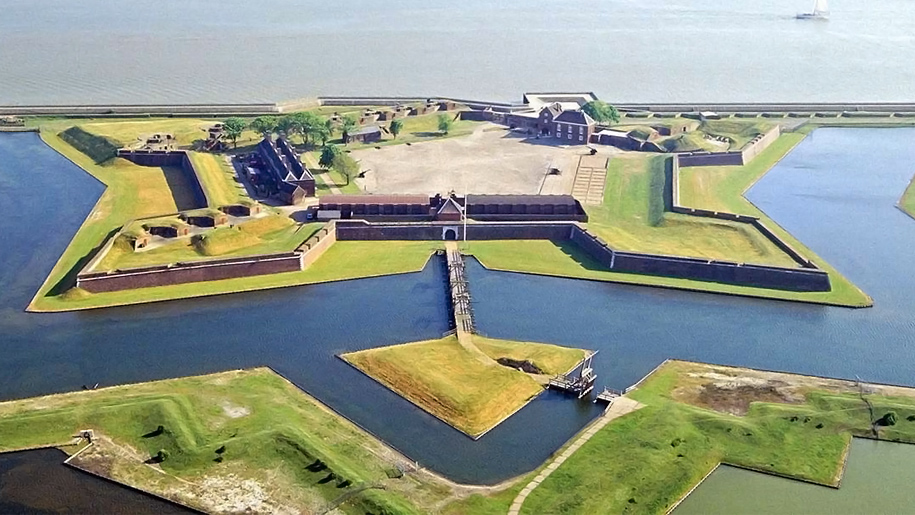 aerial view of fort