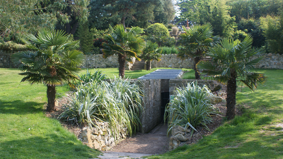 underground tunnel in botanical gardens