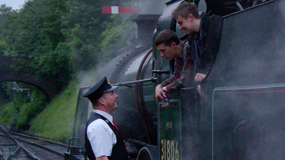 Mid Hants Railway Watercress Line people on train