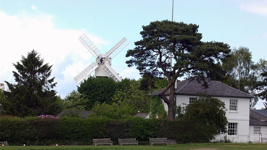 windmill and house