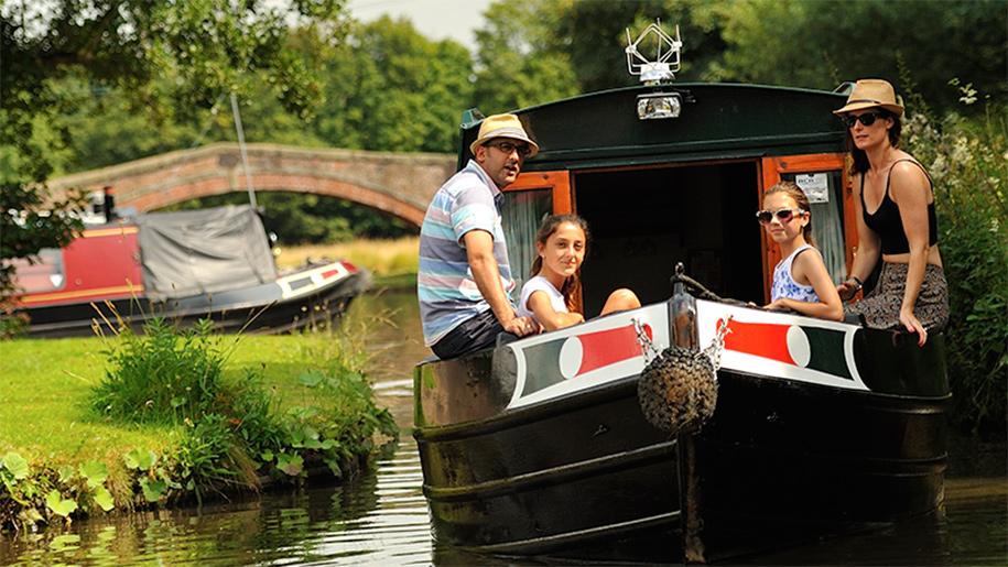 people on narrow boat