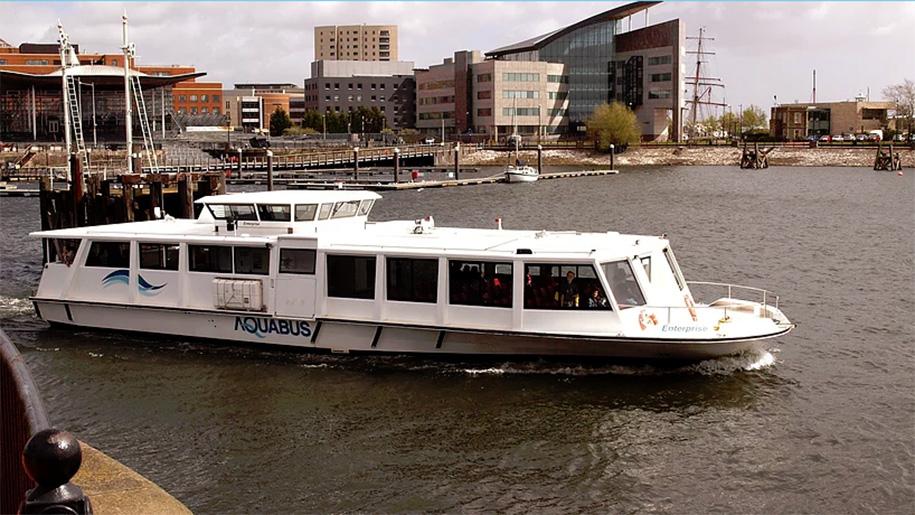 aquabus on river