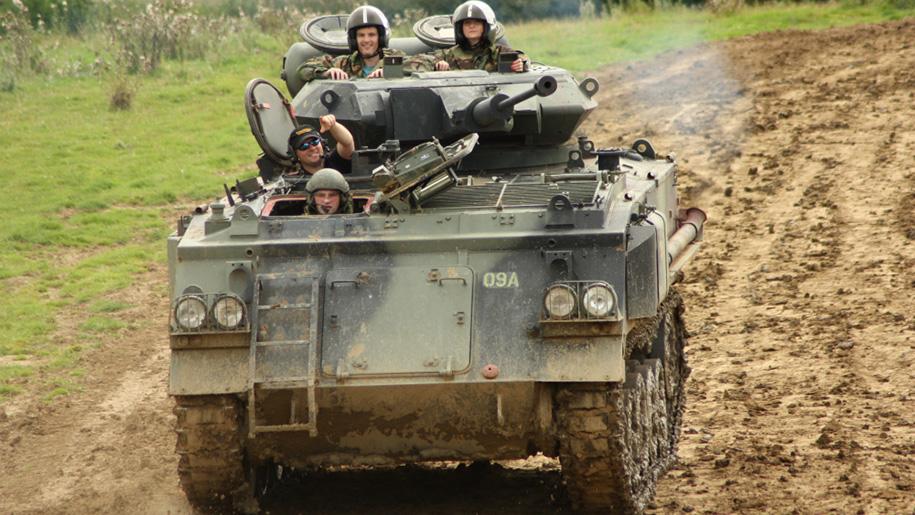 people in tank