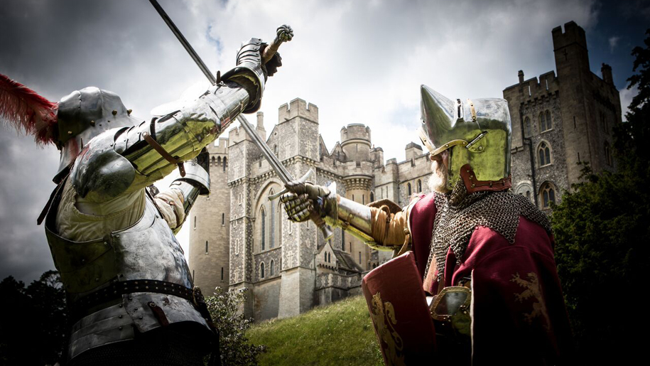 Arundel Castle Knights sword fighting