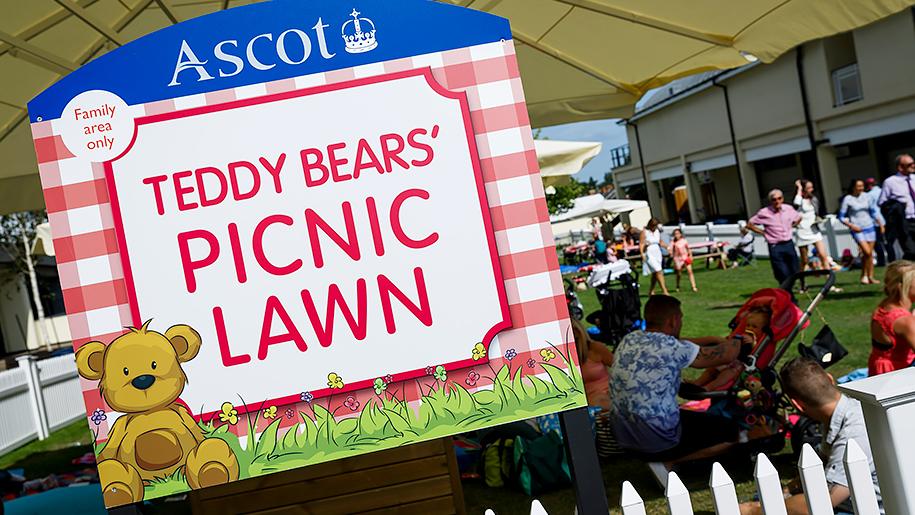 Ascot Racecourse teddy bears picnic lawn