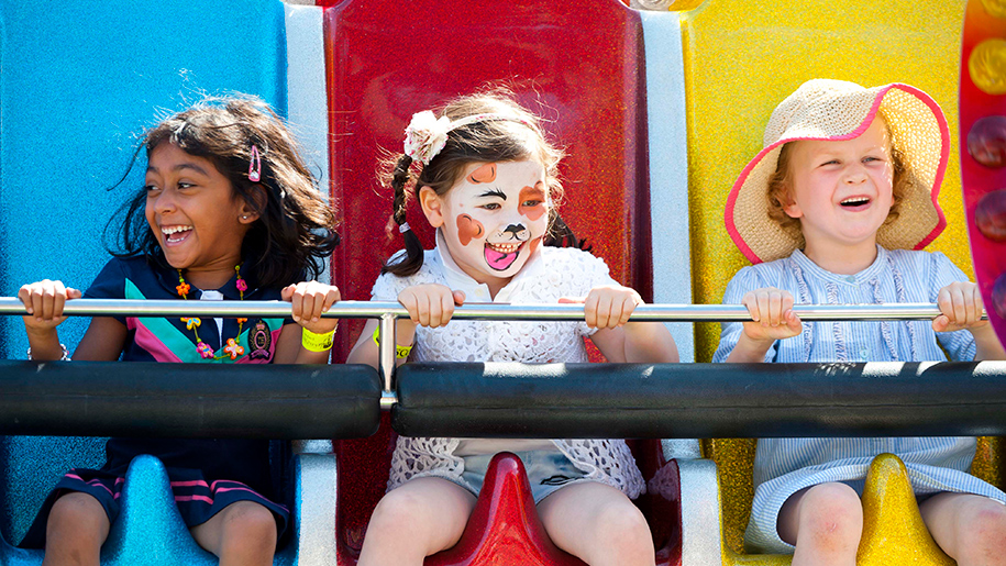 Ascot Racecourse girl with face paint