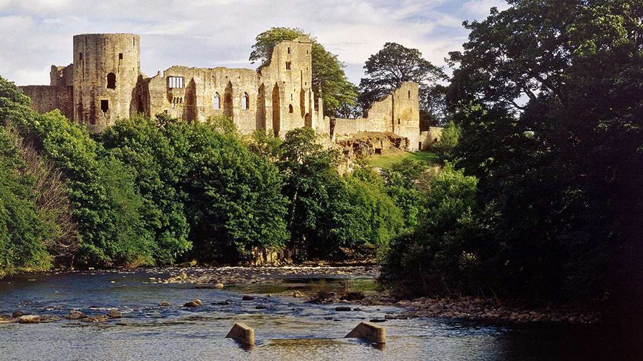 view of castle from river