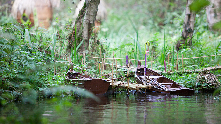 boats in woods