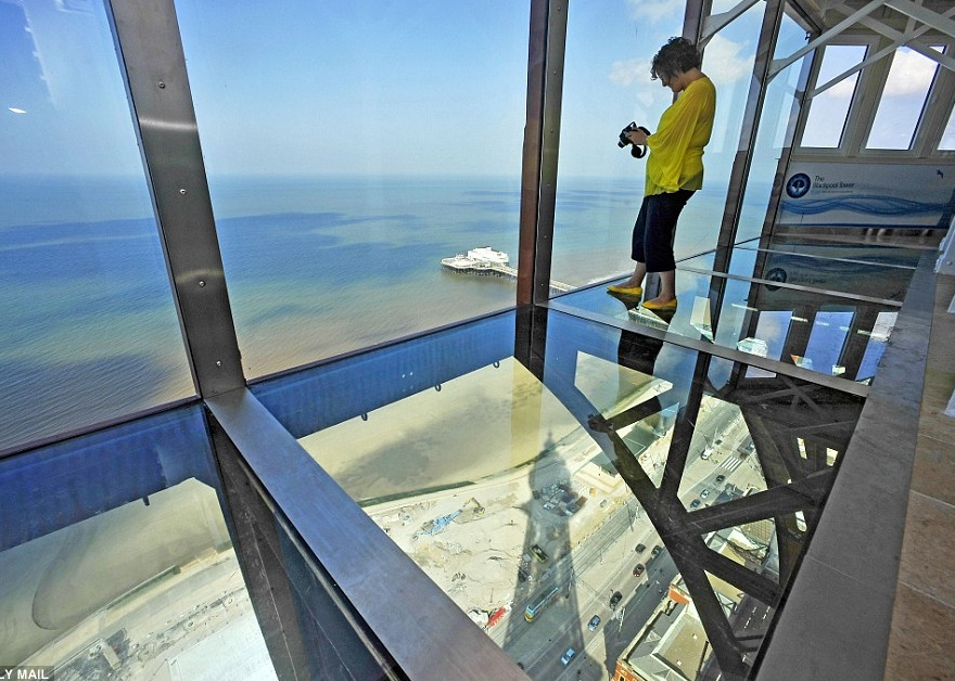 view from top of blackpool tower