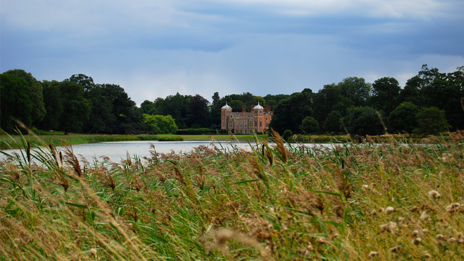 blickling hall across water