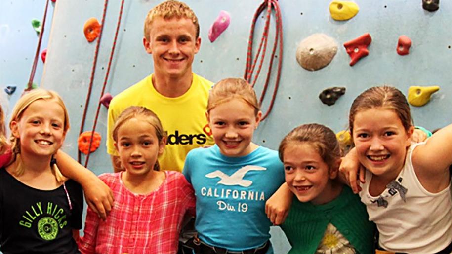 children in climbing centre