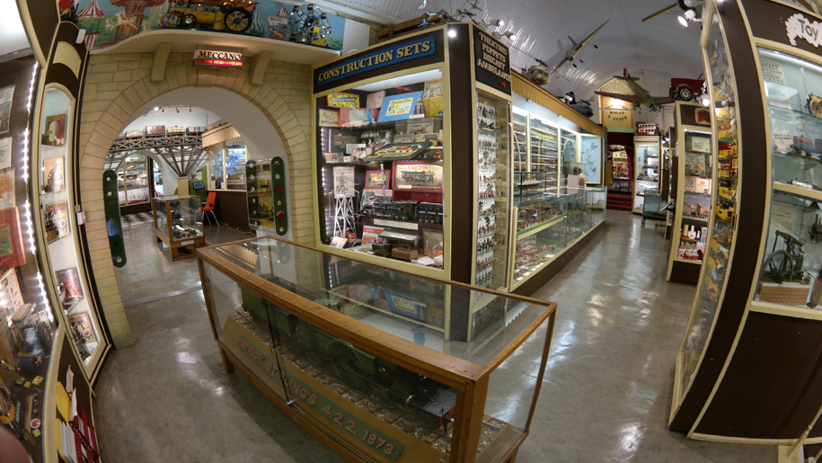 fish eye snap of interior