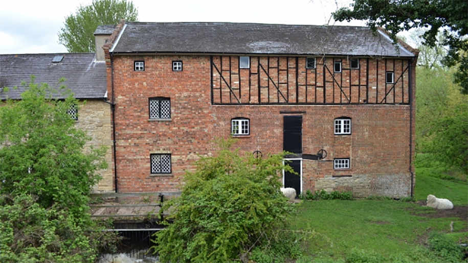 Outside view of Bromham Mill