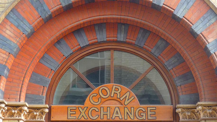 corn exchange sign