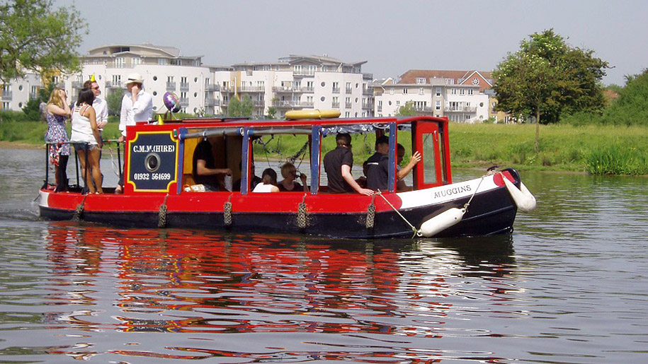 Chertsey Meads Marine Boat Hire boat on water