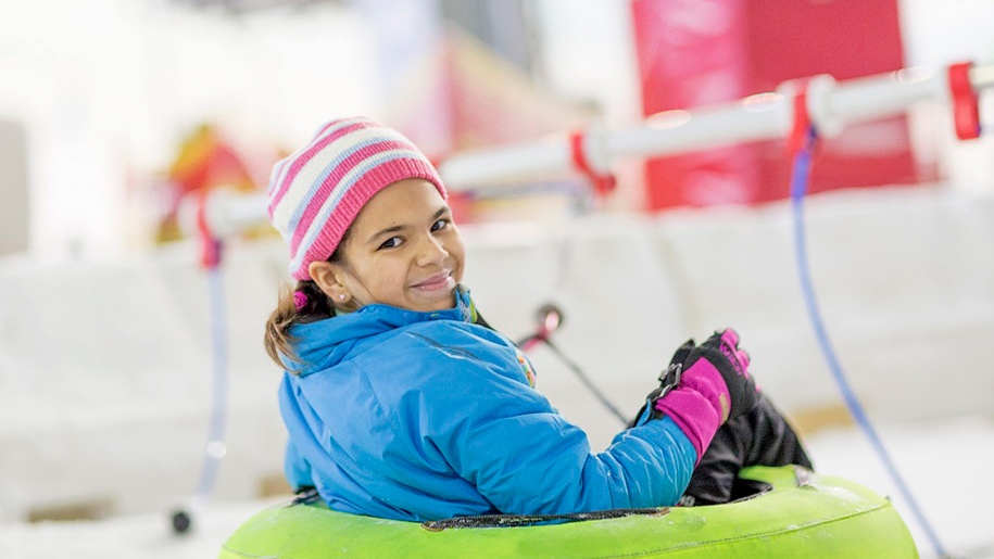 Chill Factore Greater Manchester Child on Slope