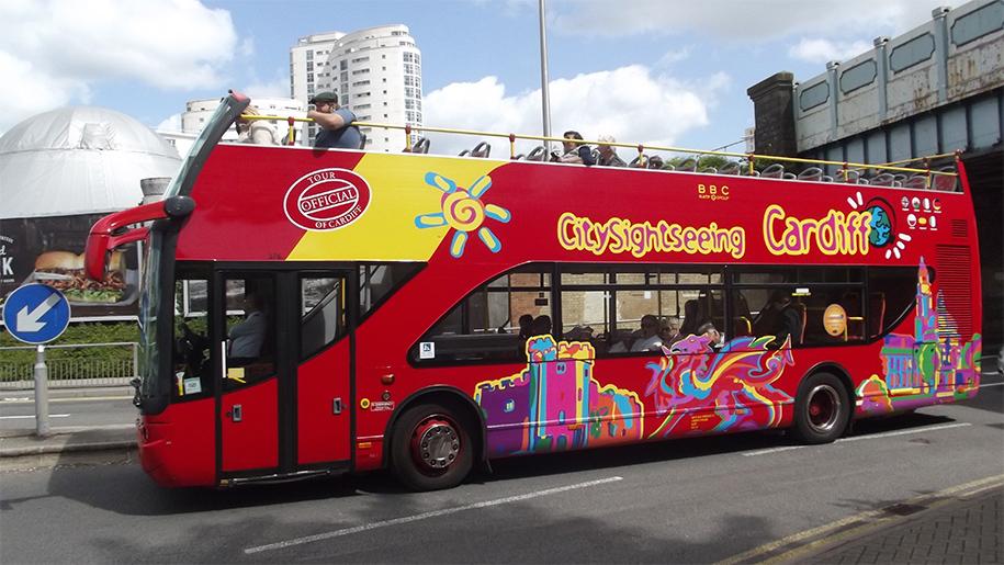 double decker open top bus