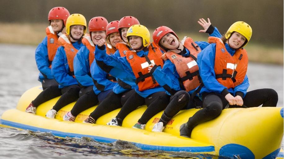 group on banana boat