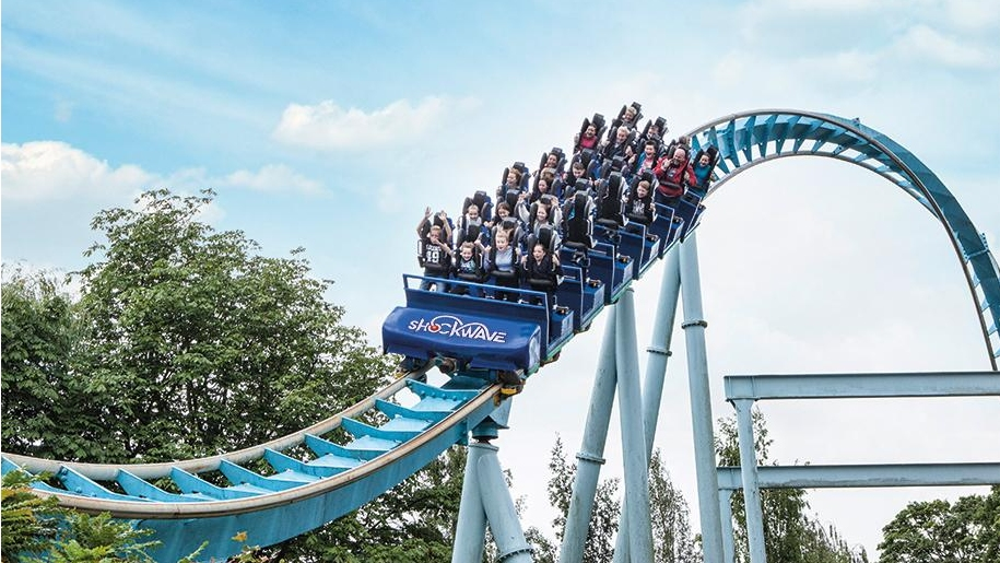 roller coaster at Drayton Manor
