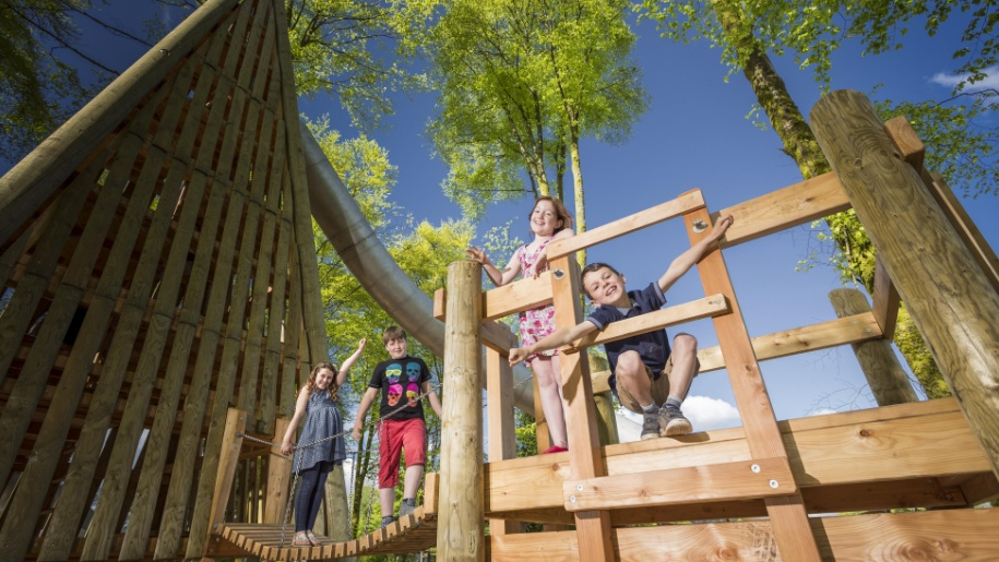 children on climbing frame