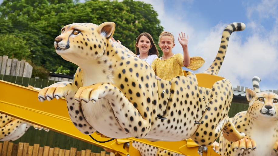 children on cheetah ride