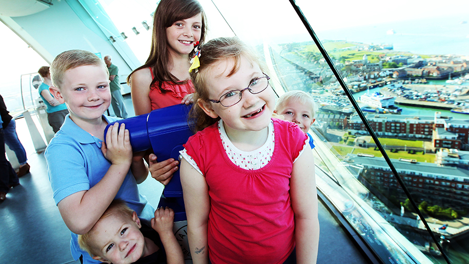 Emirates Spinnaker Tower Children seeing the view
