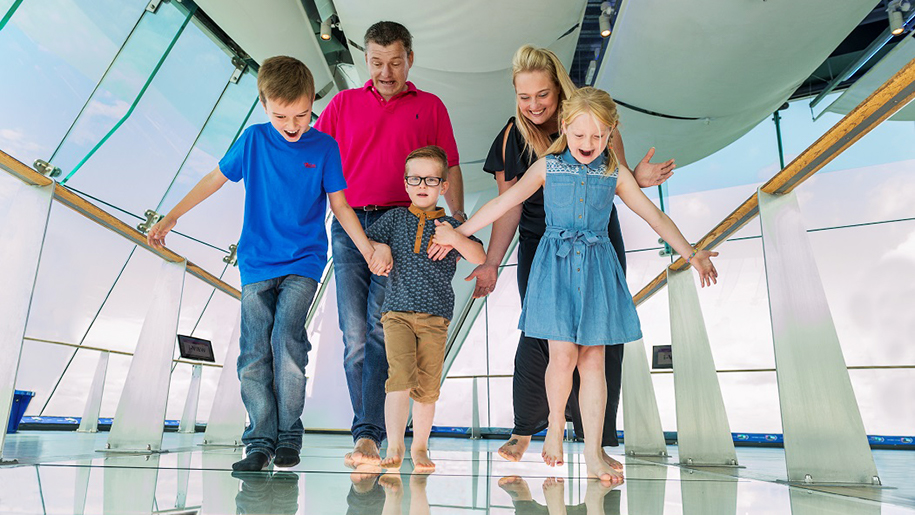 Emirates Spinnaker Tower Family exploring