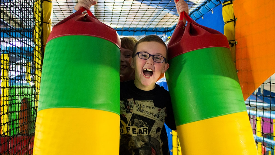 boys in soft play