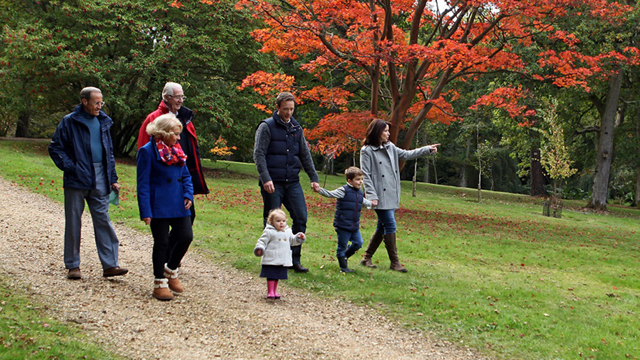 Exbury Gardens and Steam Railway Family walking
