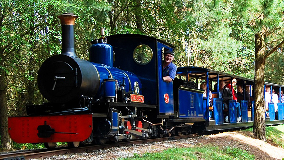 Exbury Gardens and Steam Railway Train