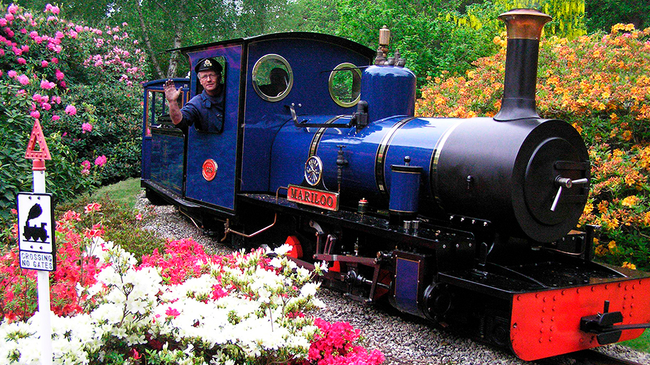 Exbury Gardens and Steam Railway Train