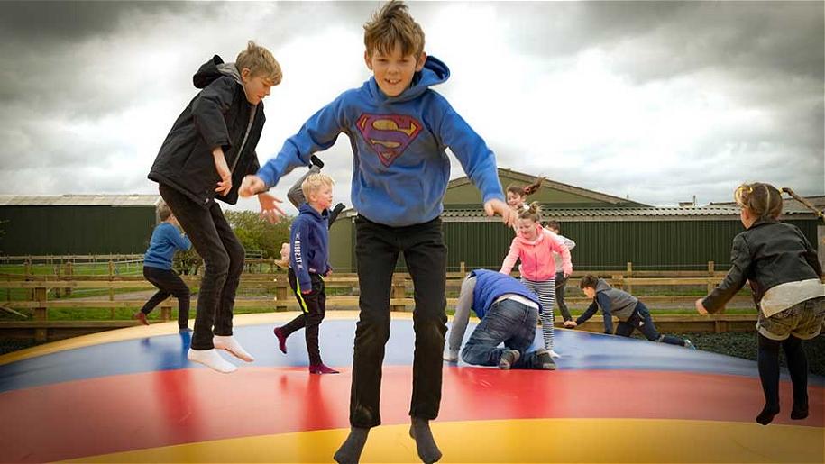children bouncing